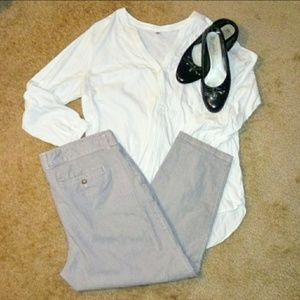 Khakis by Gap Girlfriend Khaki blue stripe 18!